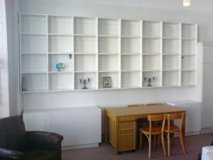 White Shelving & cabinets