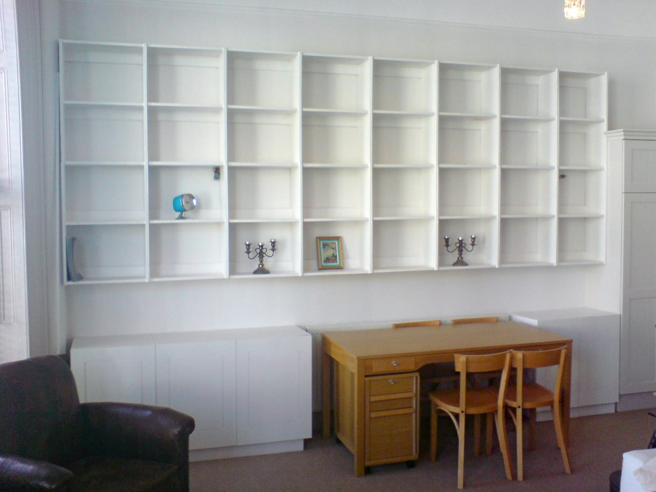 October 29 2009 White Shelving Cabinets By Rich In Cabinets Shelving