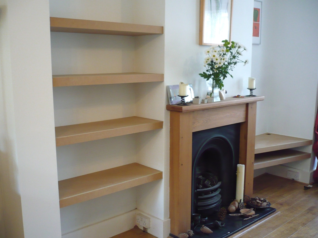 Simple alcove shelves » Richard Sothcott Brighton Carpentry