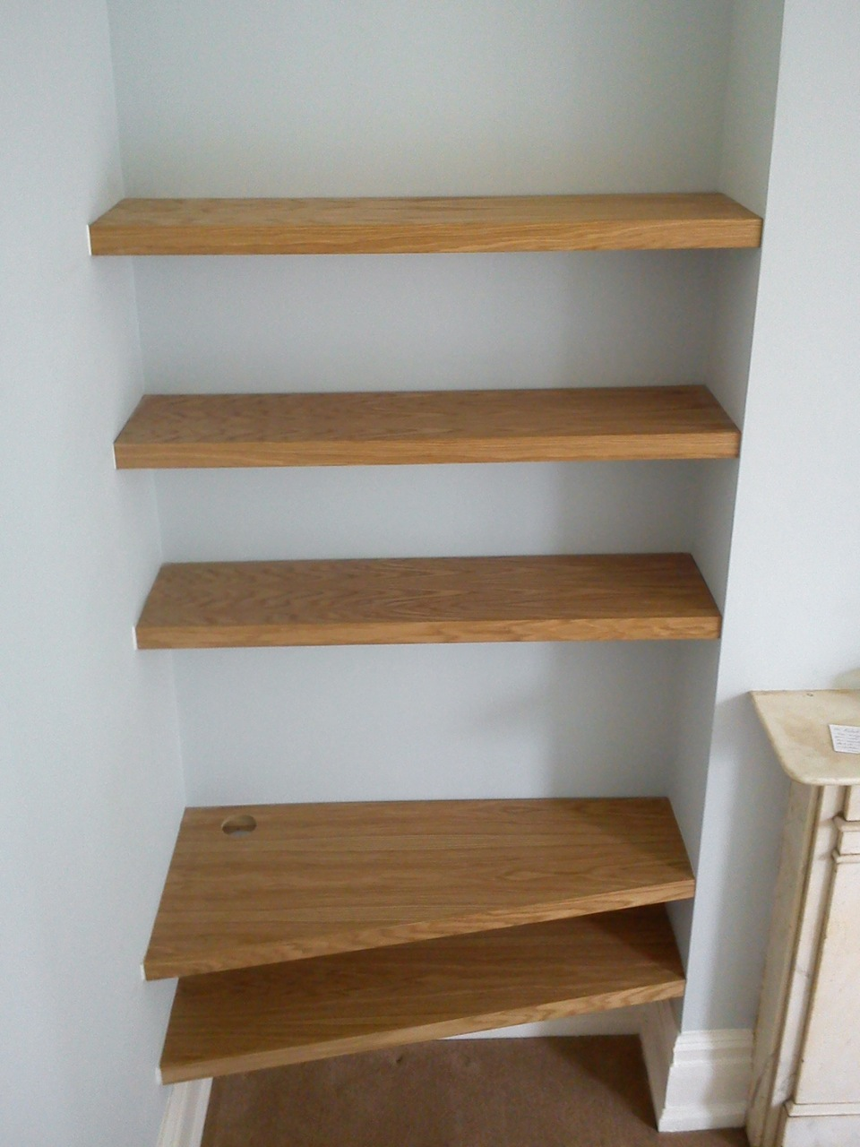 Oak Amp Cherry Shelves 187 Richard Sothcott Brighton Carpentry