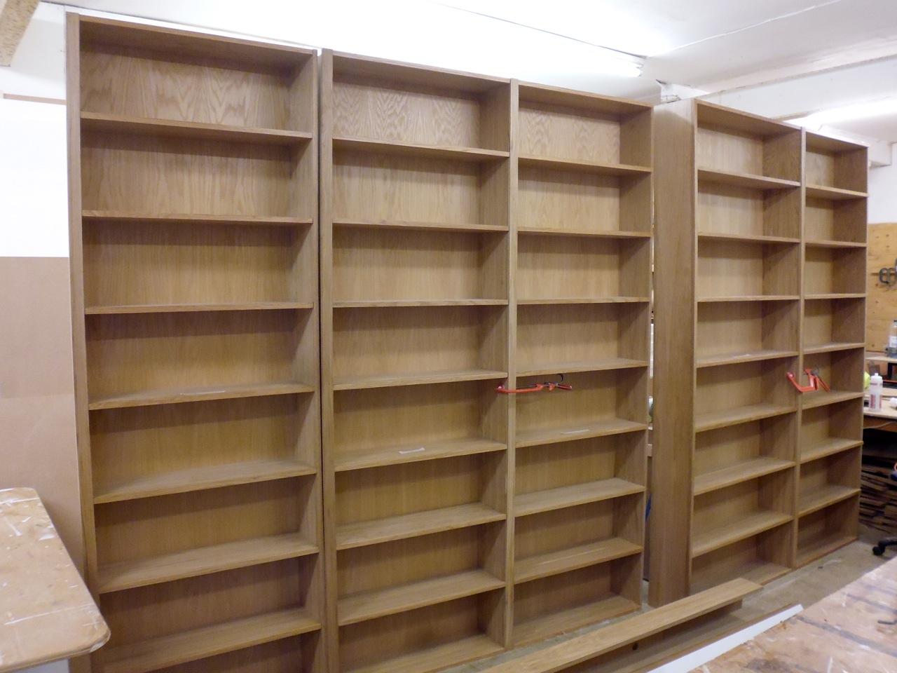 Oak Bookshelves » Richard Sothcott Brighton Carpentry